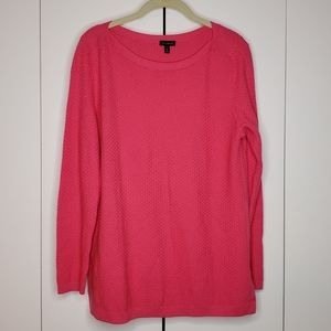 Talbots Coral PInk Pullover Knit Top